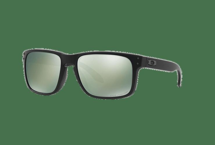 Oakley Holbrook Matte Black lente Emerald Iridium Polarized cod. OO9102-5055 - Image 1