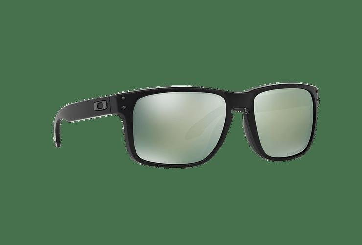 Oakley Holbrook Matte Black lente Emerald Iridium Polarized cod. OO9102-5055 - Image 11