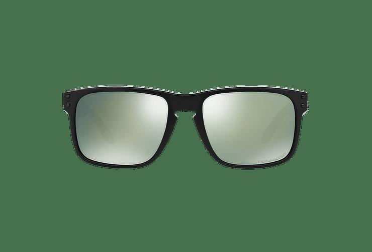 Oakley Holbrook Matte Black lente Emerald Iridium Polarized cod. OO9102-5055 - Image 12