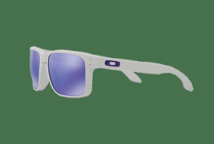 Oakley Holbrook Matte White lente Violet Iridium cod. OO9102-0555 - Image 2