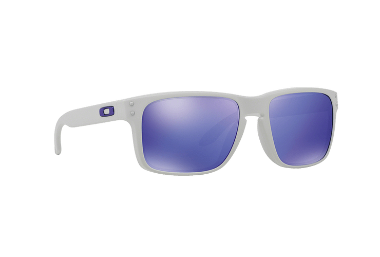 Oakley Holbrook Matte White lente Violet Iridium cod. OO9102-0555 - Image 11