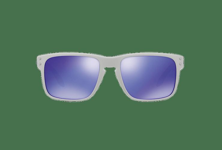 Oakley Holbrook Matte White lente Violet Iridium cod. OO9102-0555 - Image 12