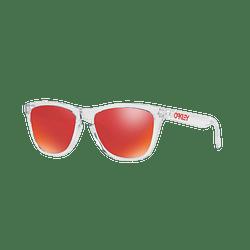 Oakley Frogskins Polished Clear lente Torch Iridium cod. OO9013-A555