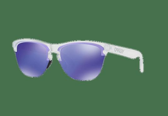 Oakley Frogskins Lite Matte Clear lente Violet Iridium cod. OO9374-0363