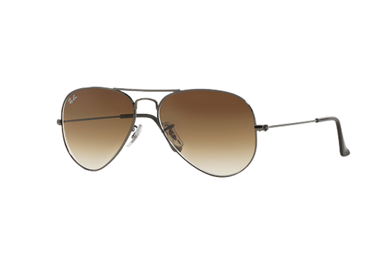 Ray Ban Aviador Gunmetal lente Crystal Brown Gradient cod. RB3025 004/51 58