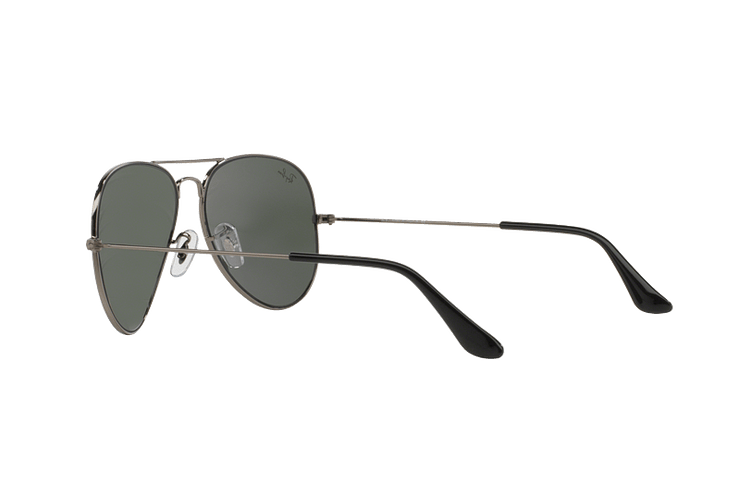 Ray Ban Aviador Gunmetal lente Green / Grey cod. RB3025 W0879 58 - Image 4