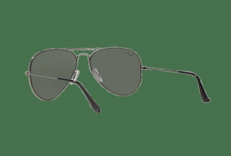 Ray Ban Aviador Gunmetal lente Green / Grey cod. RB3025 W0879 58 - Image 5