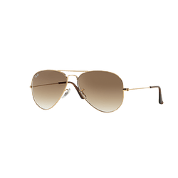 Ray Ban Aviador Gold lente Crystal Brown Gradient cod. RB3025 001/51 58