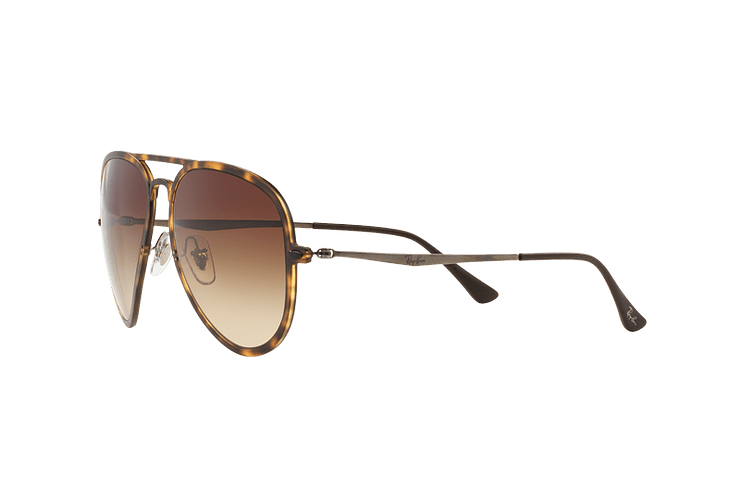 Ray Ban Aviador Light Ray Li Brown Havana lente Gradient Brown cod. RB4211 894/13 56 - Image 2