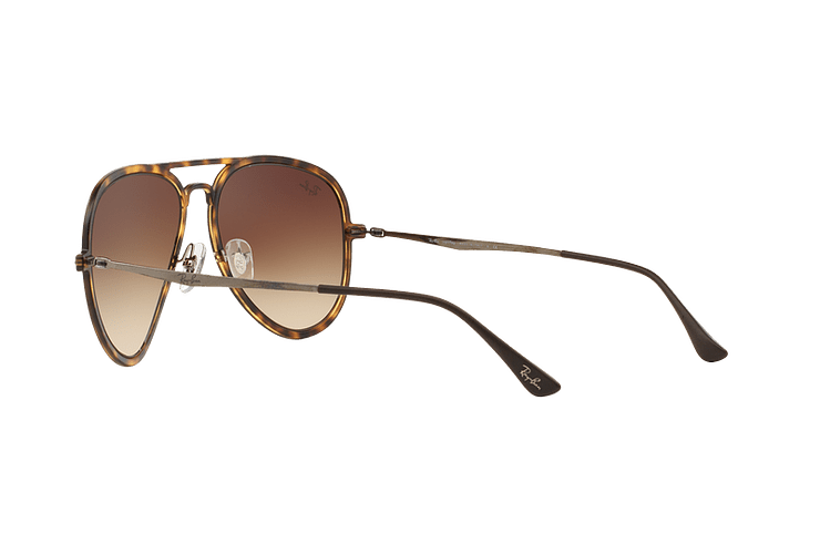 Ray Ban Aviador Light Ray Li Brown Havana lente Gradient Brown cod. RB4211 894/13 56 - Image 4