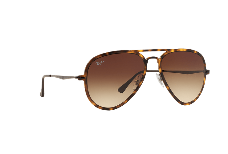Ray Ban Aviador Light Ray Li Brown Havana lente Gradient Brown cod. RB4211 894/13 56 - Image 11
