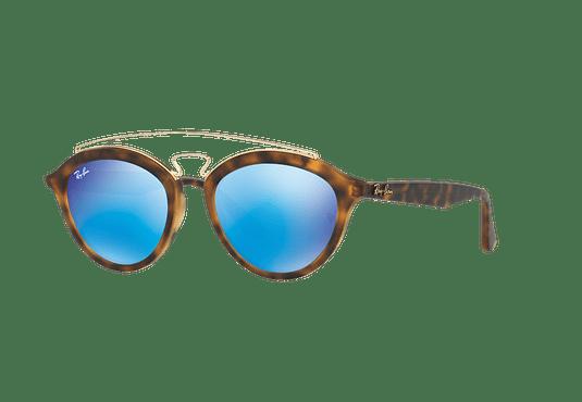 Ray Ban Gatsby II Matte Havana lente Blue Mirror cod. RB4257 609255 50