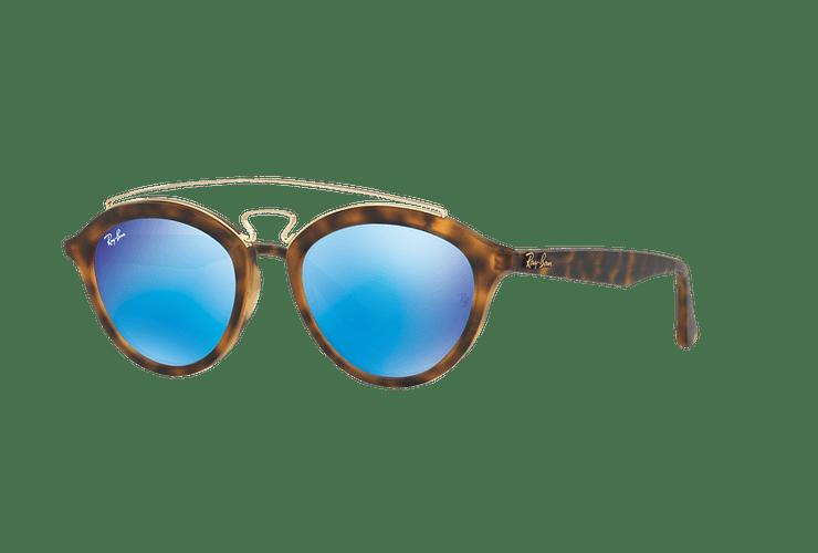 Ray Ban Gatsby II Matte Havana lente Blue Mirror cod. RB4257 609255 50 - Image 1