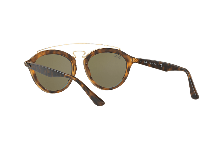 Ray Ban Gatsby II Matte Havana lente Blue Mirror cod. RB4257 609255 50 - Image 5