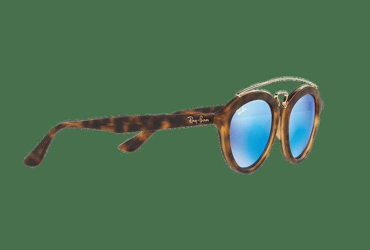 Ray Ban Gatsby II Matte Havana lente Blue Mirror cod. RB4257 609255 50 - Image 10
