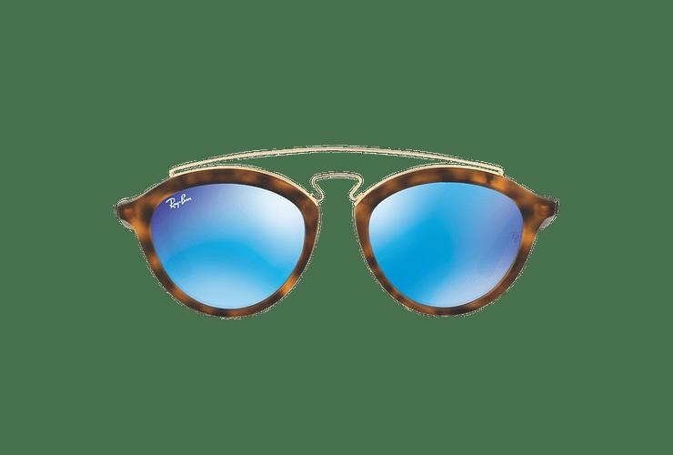 Ray Ban Gatsby II Matte Havana lente Blue Mirror cod. RB4257 609255 50 - Image 12