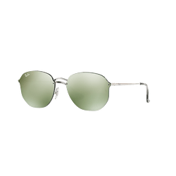 Ray-Ban Blaze Hexagonal Silver lente Dark Green Mirror Silver cod. RB3579N 003/30 58