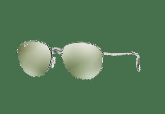 Ray Ban Blaze Hexagonal Silver lente Dark Green Mirror Silver cod. RB3579N 003/30 58