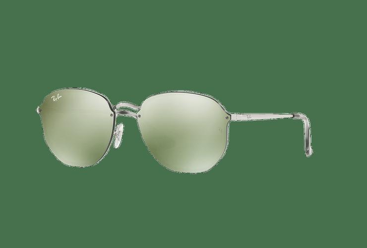 Ray Ban Blaze Hexagonal Silver lente Dark Green Mirror Silver cod. RB3579N 003/30 58 - Image 1