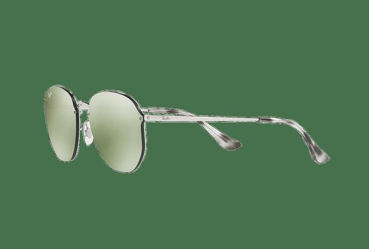 Ray Ban Blaze Hexagonal Silver lente Dark Green Mirror Silver cod. RB3579N 003/30 58 - Image 2