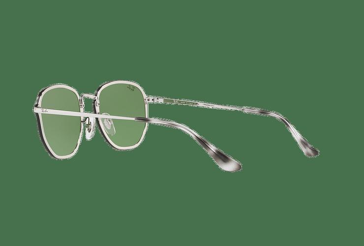 Ray Ban Blaze Hexagonal Silver lente Dark Green Mirror Silver cod. RB3579N 003/30 58 - Image 4