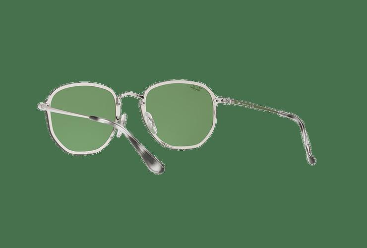 Ray Ban Blaze Hexagonal Silver lente Dark Green Mirror Silver cod. RB3579N 003/30 58 - Image 5