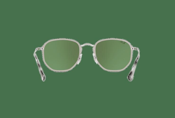 Ray Ban Blaze Hexagonal Silver lente Dark Green Mirror Silver cod. RB3579N 003/30 58 - Image 6