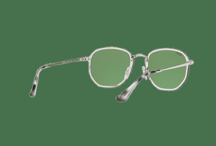 Ray Ban Blaze Hexagonal Silver lente Dark Green Mirror Silver cod. RB3579N 003/30 58 - Image 7