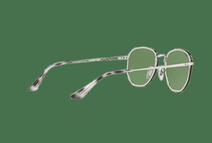 Ray Ban Blaze Hexagonal Silver lente Dark Green Mirror Silver cod. RB3579N 003/30 58 - Image 8