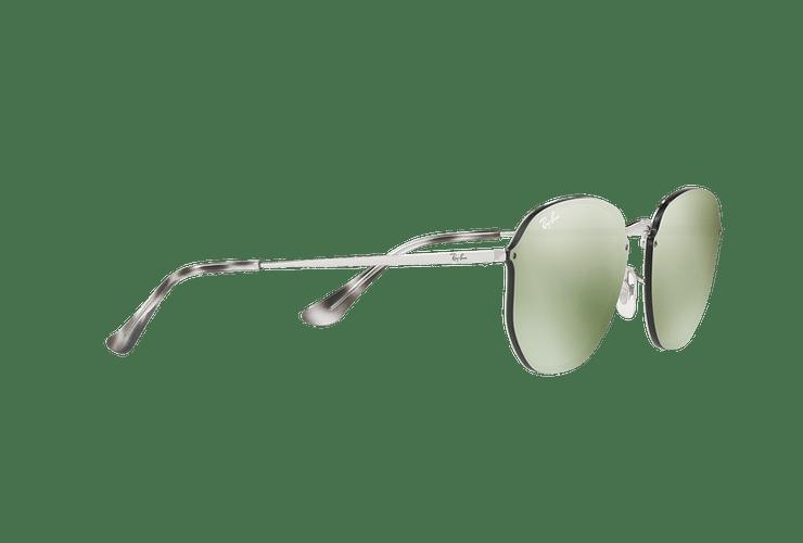 Ray Ban Blaze Hexagonal Silver lente Dark Green Mirror Silver cod. RB3579N 003/30 58 - Image 10