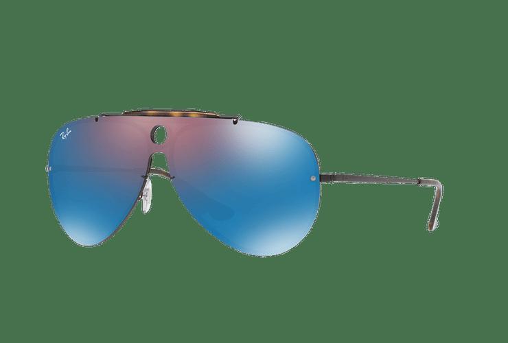 Ray Ban Blaze Shooter Black lente Violet / Blue Mirror cod. RB3581N 153/7V 32 - Image 1