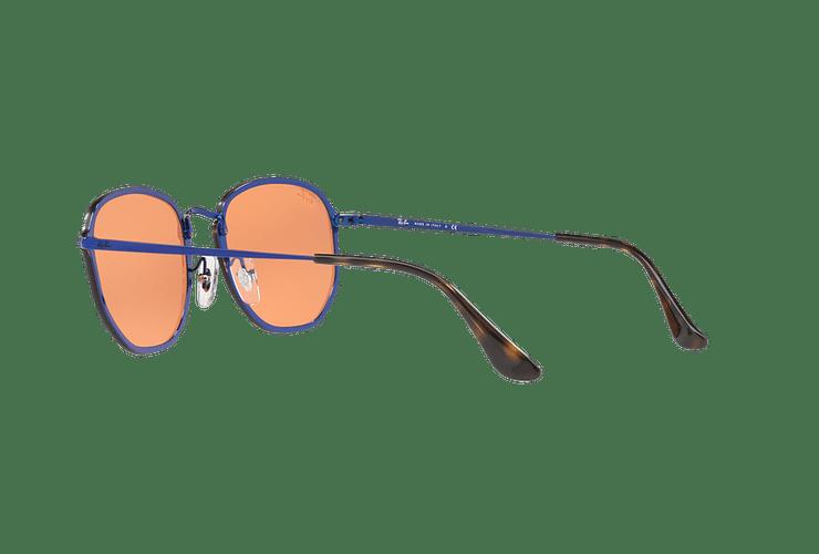 Ray Ban Blaze Hexagonal Blue lente Dark Orange Mirror Gold cod. RB3579N 90387J 58 Desc25% - Image 4
