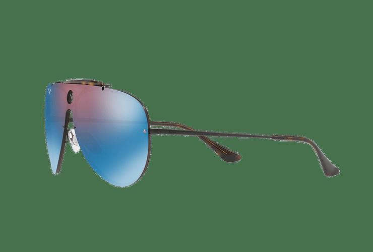 Ray Ban Blaze Shooter Black lente Violet / Blue Mirror cod. RB3581N 153/7V 32 - Image 2