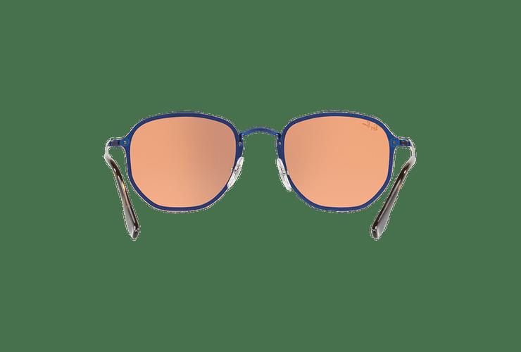 Ray Ban Blaze Hexagonal Blue lente Dark Orange Mirror Gold cod. RB3579N 90387J 58 Desc25% - Image 6