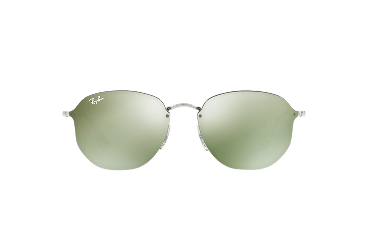Ray Ban Blaze Hexagonal Silver lente Dark Green Mirror Silver cod. RB3579N 003/30 58 - Image 12