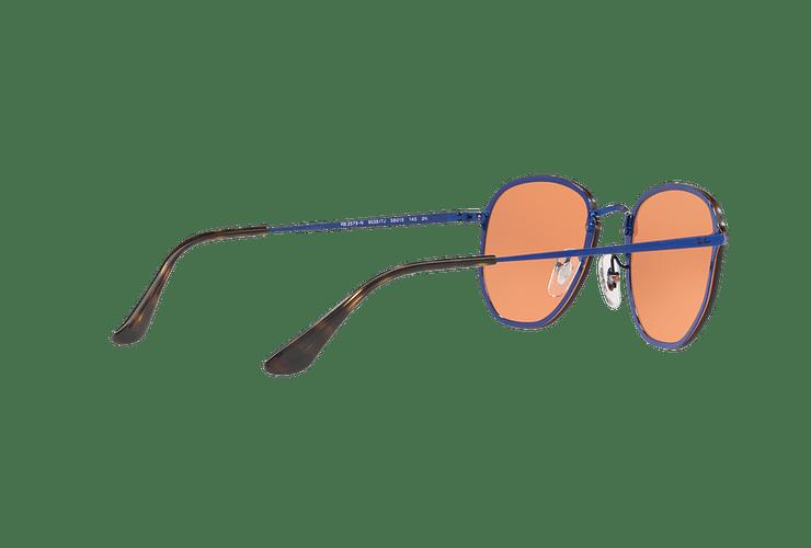 Ray Ban Blaze Hexagonal Blue lente Dark Orange Mirror Gold cod. RB3579N 90387J 58 Desc25% - Image 8