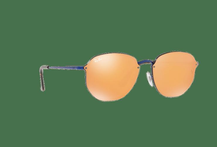 Ray Ban Blaze Hexagonal Blue lente Dark Orange Mirror Gold cod. RB3579N 90387J 58 Desc25% - Image 11