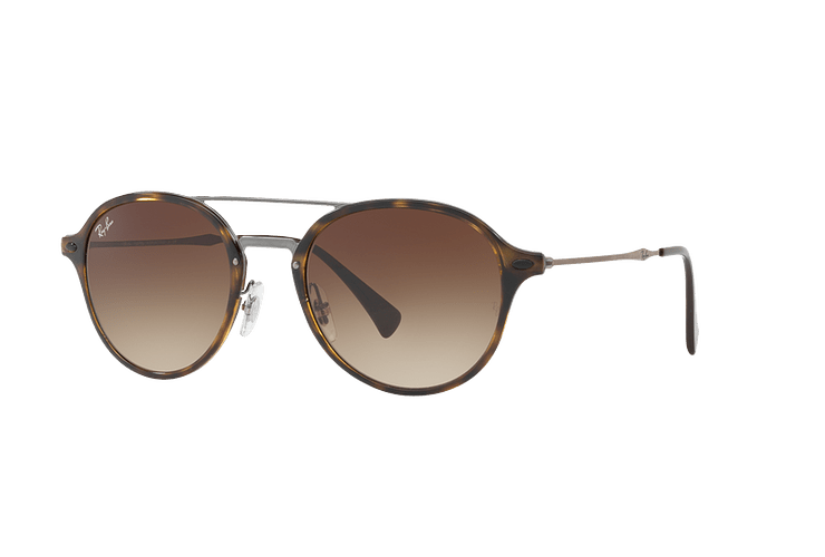 Ray Ban Round RB4287 Light Havana lente Brown Gradient cod. RB4287 710/13 55 - Image 1