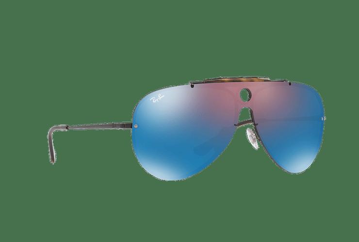 Ray Ban Blaze Shooter Black lente Violet / Blue Mirror cod. RB3581N 153/7V 32 - Image 11