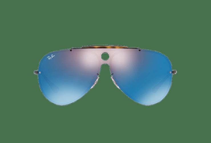 Ray Ban Blaze Shooter Black lente Violet / Blue Mirror cod. RB3581N 153/7V 32 - Image 12