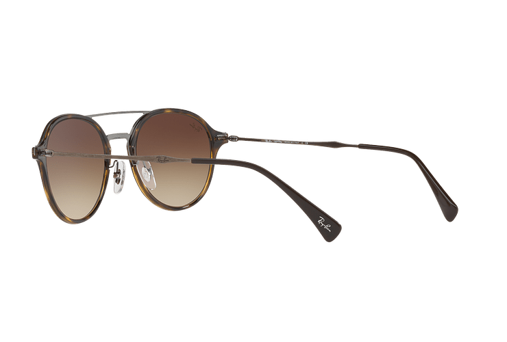 Ray Ban Round RB4287 Light Havana lente Brown Gradient cod. RB4287 710/13 55 - Image 4