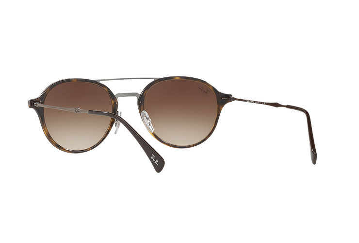 Ray Ban Round RB4287 Light Havana lente Brown Gradient cod. RB4287 710/13 55 - Image 5