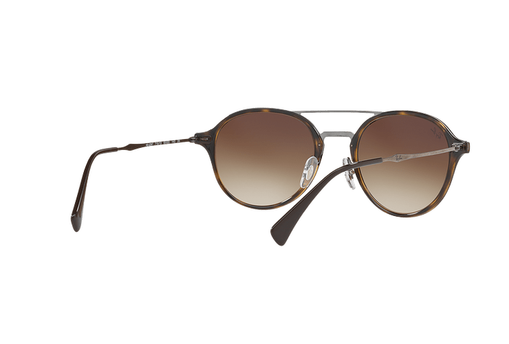 Ray Ban Round RB4287 Light Havana lente Brown Gradient cod. RB4287 710/13 55 - Image 7