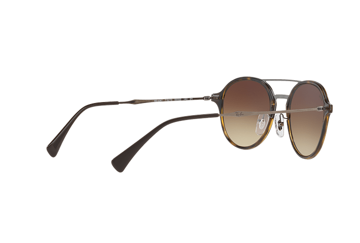 Ray Ban Round RB4287 Light Havana lente Brown Gradient cod. RB4287 710/13 55 - Image 8