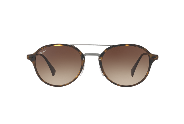 Ray Ban Round RB4287 Light Havana lente Brown Gradient cod. RB4287 710/13 55 - Image 12