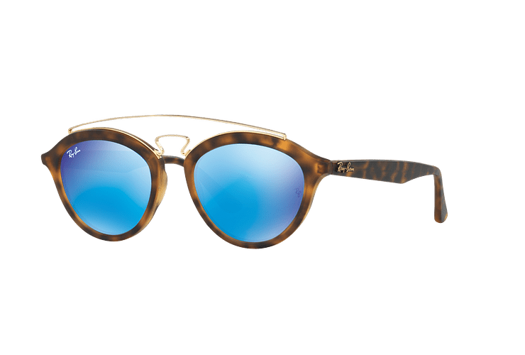 Ray Ban Gatsby II Matte Havana lente Blue Mirror cod. RB4257 609255 53 - Image 1