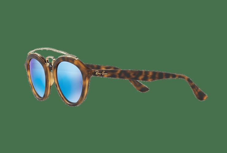 Ray Ban Gatsby II Matte Havana lente Blue Mirror cod. RB4257 609255 53 - Image 2