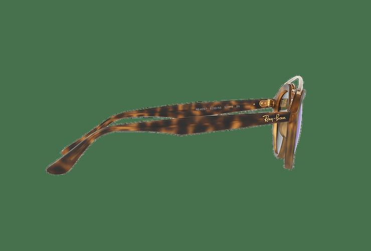 Ray Ban Gatsby II Matte Havana lente Blue Mirror cod. RB4257 609255 53 - Image 9