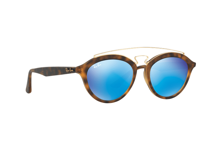 Ray Ban Gatsby II Matte Havana lente Blue Mirror cod. RB4257 609255 53 - Image 11