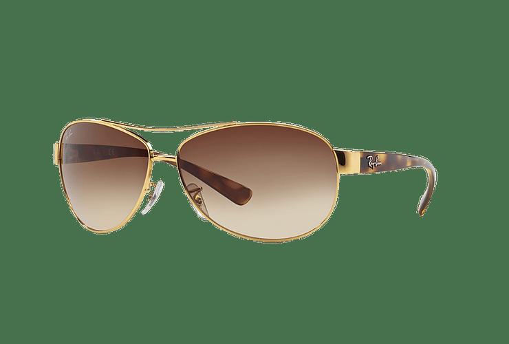 Ray Ban Aviador Ovalado RB3386 Gold lente Brown Gradient cod. RB3386 001/13 63 - Image 1